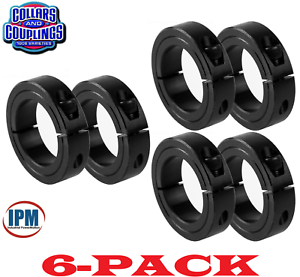 "6-PACK 3//16/"" Single Split 1-PC Clamping Shaft Collar Steel Black Oxide CCI181S"