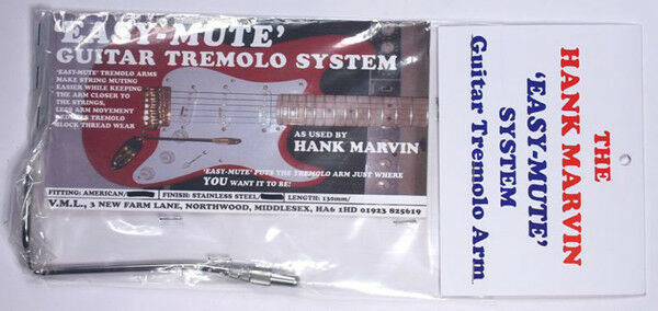 NEW Easy Mute 130mm Stainless Steel USA thread As used By Hank B Marvin