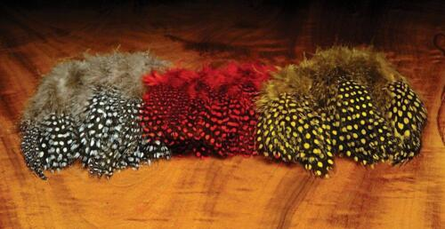 Hareline Strung Guinea Fowl Feathers for Fly TyingChoice of Colours