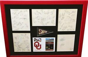 1985 Oklahoma Natl Champion team signed framed Casillas Holieway Jackson Switzer