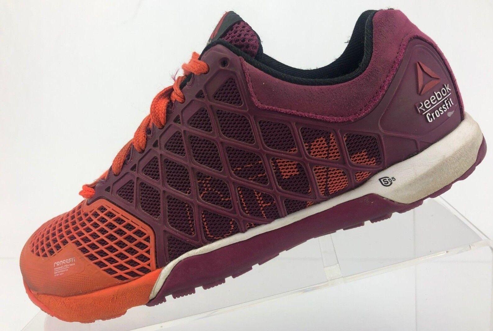 Reebok Crossfit Nano 4.0 Running shoes orange Purple Training Sneaker Womens 7.5