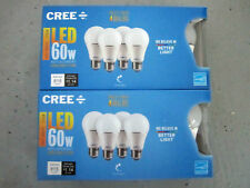 CREE 8-Pack LED A19 Light Bulbs 9.5W=60W Dimmable Soft White 2700K FREE SHIP!