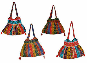 10-Cotton-Canvas-Ethnic-Handcrafted-Tote-Hippie-Shoulder-Bag-Wholesale-Lot