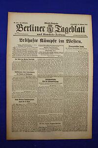 De Berlin Dealer (24.2.1917): Animé Combats Dans L'ouest-afficher Le Titre D'origine