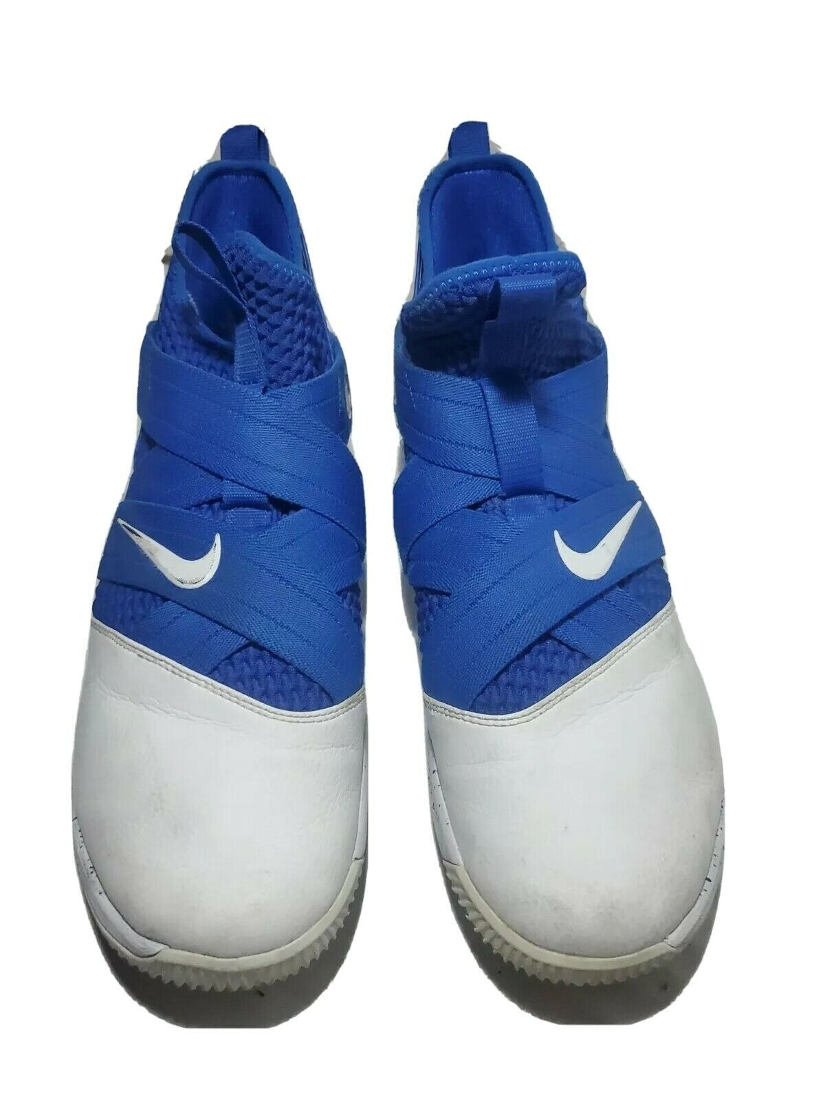 Nike Lebron Soldier XII White and Blue Basketball Shoes Size 13 AT3872-111 on eBay thumbnail
