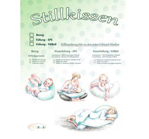 EPS Bananenform inkl EMI/&SAM Stillkissen Lagerungkissen 170cm FillBall Bezug