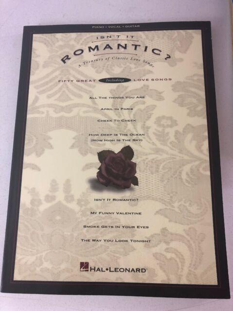 Isn't It Romantic? 50 Great Love Songs Sheet Music (1995, Piano, Vocal, Guitar)