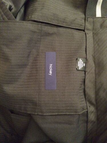 Size 58 R NEW WT HICKEY BY HICKEY FREEMAN DRESS PANTS WORSTED WOOL BLACK