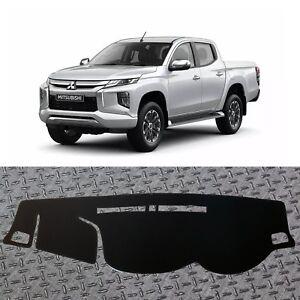 Non-Slip-Black-Dash-mats-Covers-for-2015-2019-Mitsubishi-Triton-RH-Drive