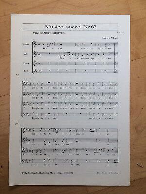 """Aggressiv Gregorio Allegri : """" Veni Sancte Spiritus """" Für Gem. Chor"""