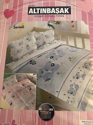 """Ehrlich 4 Tlg Kinder Bettwäsche Bettgarnitur 100% Baumwolle 100x150 Cm """" Junge """" Neu! Bettwäsche Bettwäschegarnituren"""