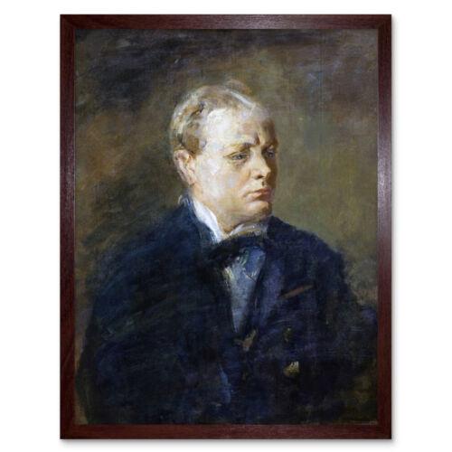 McEvoy retrato Sir Winston Churchill pintura arte impresión enmarcado 12x16