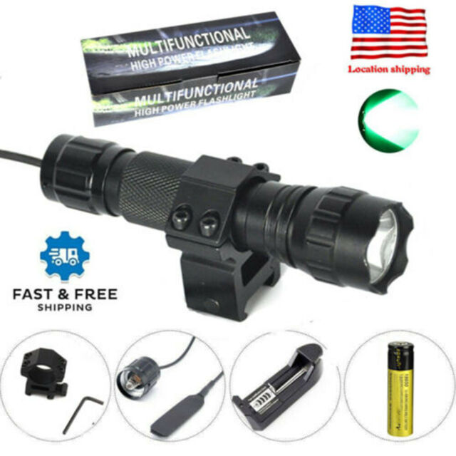 8000LM XM-L T6 LED Rechargeable 18650 Hunting Tactical Flashlight Torch Lamp