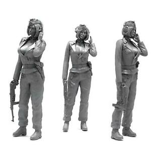 KOO-38-1-35-Resin-Unpainted-Soldiers-Assembly-Moulds-Beauty-Armored-Soldiers