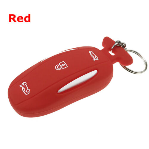 1pc 3 Buttons Key Fob Cover Case Remote Shell Holder For Tesla Model X Durable