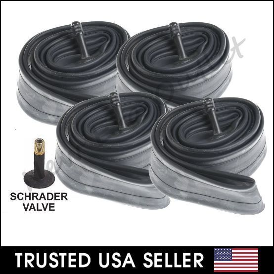 "2 x 24/"" inch Inner Bike Tube 24 x 1.75-2.125 Bicycle Rubber Tire Interior BMX"