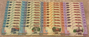 Madagascar-Billete-mucho-mayor-40-X-Billetes-100-200-500-1000-Ariary