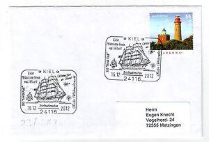 (f) Allemagne 2943 Bateau A Voiles Gorch Fock Phare Arkona Noel 2012 Lettre Ture 100% Garantie