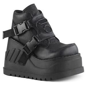PLEASER-Demonia-Stomp-15-4-3-4-034-121mm-Wedge-Platform-Bootie-Ft-Padded-Ankle