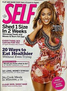 BEYONCE June 2009 SELF Magazine