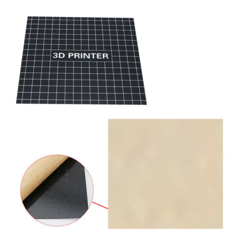 Reusable 3D Printer Part Sheet Tape Tools Platform Paster Black Sticker