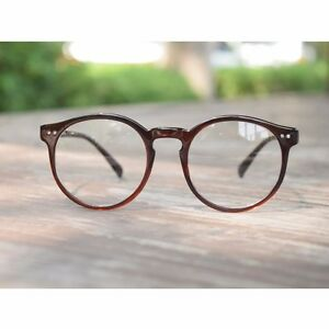 2131ef6d2c Image is loading 1920s-Vintage-oliver-retro-eyeglasses-41R82-Brown-Round-