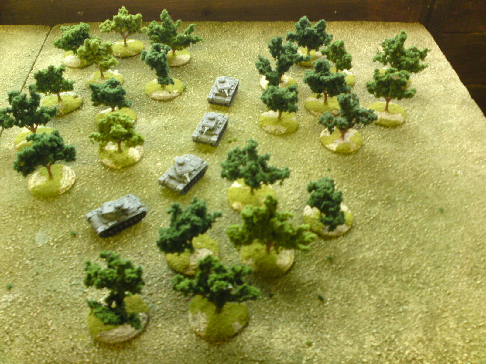 24 x 15mm sculptured trees suitable for flames of war