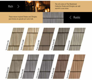 Vinyl Siding Foundry Color Samples For Split And Staggered