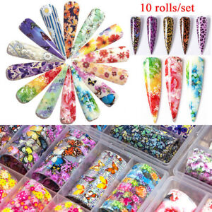 Holographic-Flower-Nail-Foil-Leopard-Nail-Art-Decoration-Transfer-Sticker-Decal