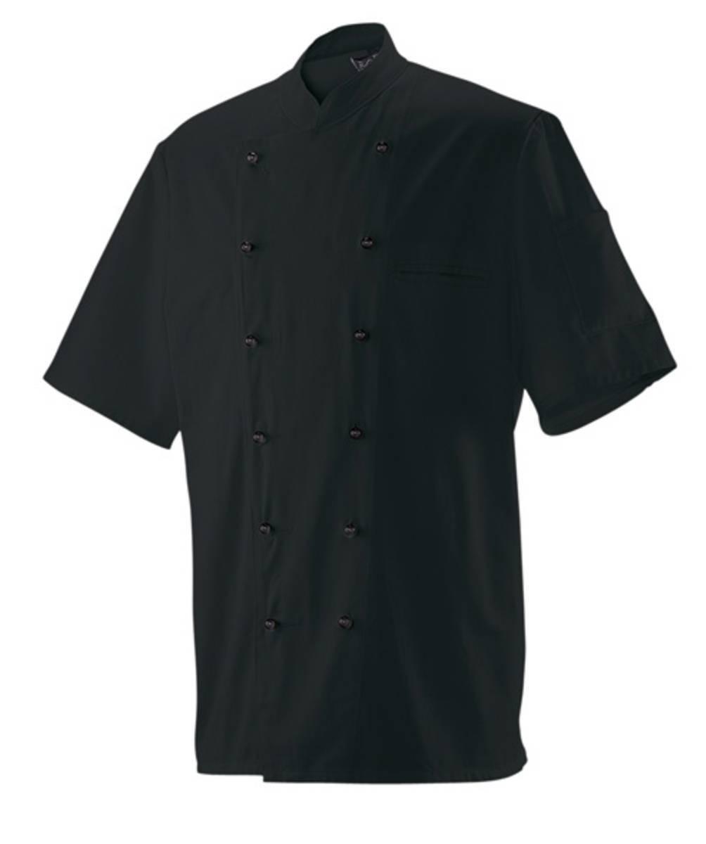 Giacca da chef grembiule PANETTIERE manica manica manica corta Nero NUOVO ba4804