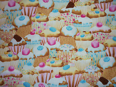 FQ CUPCAKES CANDY SWEETS CHOCOLATE FABRIC FOOD BAKING KITCHEN KITSCH