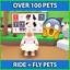 Adopt-Me-Pets-Fly-Ride-Pets-Common-To-Ultra-Rare-Pets-RF-FR thumbnail 1