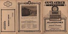 HAMBURG, Leporello mit Bestellkarte 1925 Gust. Geber Glanzpunkt Zigarren Kisten