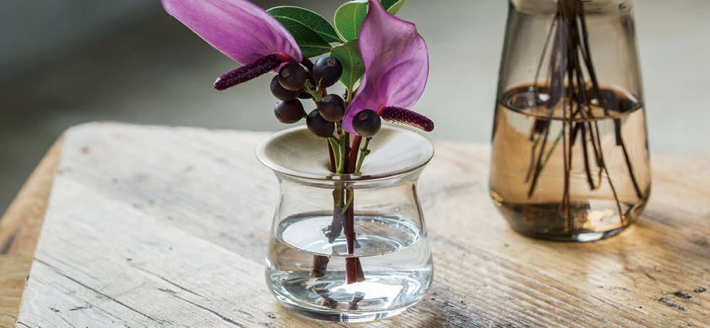 KINTO LUNA Base 80x130mm 360ml Clear 20333 Flower Vase from JAPAN
