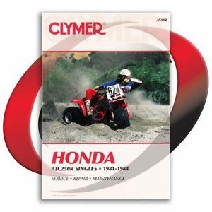 1981-1984-Honda-ATC250R-Singles-Repair-Manual-Clymer-M342-Service-Shop-Garage