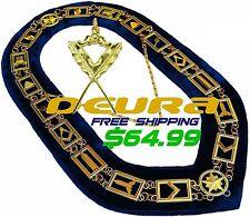 Masonic Collar Blue Lodge House FREEMASON Secretary Jewel PACKAGE DMR400GBSJ