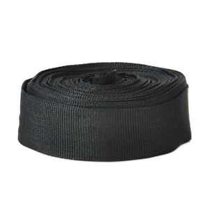 1-Inch-Wide-10-Yards-Black-Nylon-Webbing-Strap-High-Quality-Black