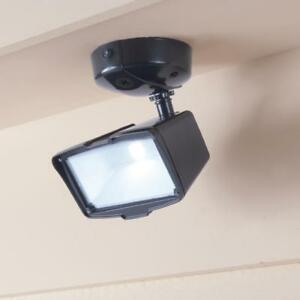 Image Is Loading Defiant Bronze Led Outdoor Security Flood Light Switch