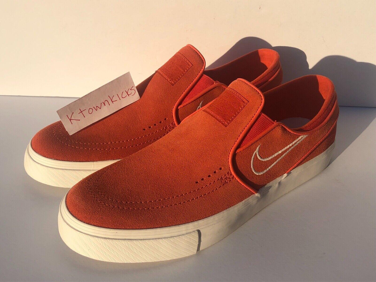 Nike Zoom Stefan Janoski Slip Vintage Coral 833564 800 Men's Size 10 NoBoxLid