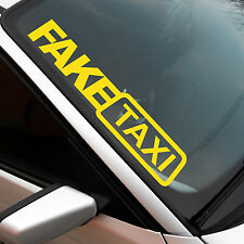 Fake Taxi XXL Frontscheibenaufkleber Sticker JDM OEM Auto Aufkleber