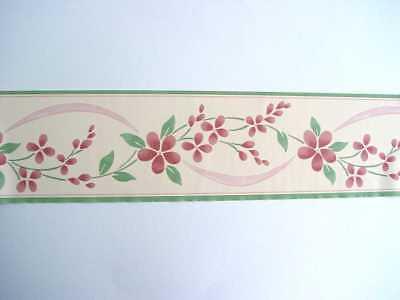 6x Bordüre selbstklebend 10cmx5m Frise Sheringham pink 30236 6 Bordüren