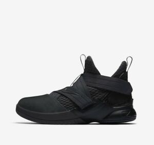 b7c03726a55 Nike Lebron James Soldier XII 12 Triple Black Anthracite AO2910-002 ...