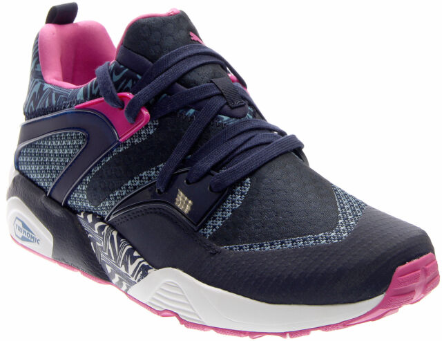 fcf6b9aa6fd Puma Blaze Of Glory Woven Running Shoes - Black - Mens