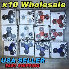 Wholesale Lot 10x Fidget Hand Tri Spinner Finger Spin Toys Kid ADHD EDC FOCUS