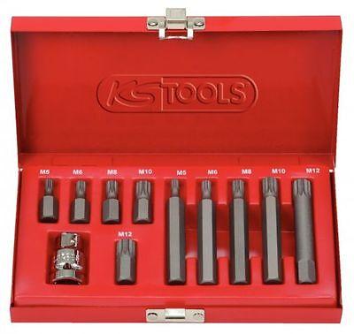 KS TOOLS 911.5030 Classic Bit Satz 10 mm, 11 tlg., Vielzahn, im Stahlblechkoffer
