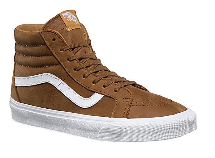 Vans Uomo Sk8-Hi Reissue Premium Pelle Hi Top Fashion Shoes  (14.5 B(M