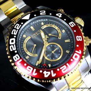 Invicta Reserve Grand Diver Master Calendar 2 Tone Swiss Mvt Gray 47mm Watch New
