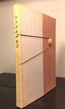 UTAMARO Portraits in Japanese Woodcut by Lubor Hajek, Werner Forman 1st/1st 1959