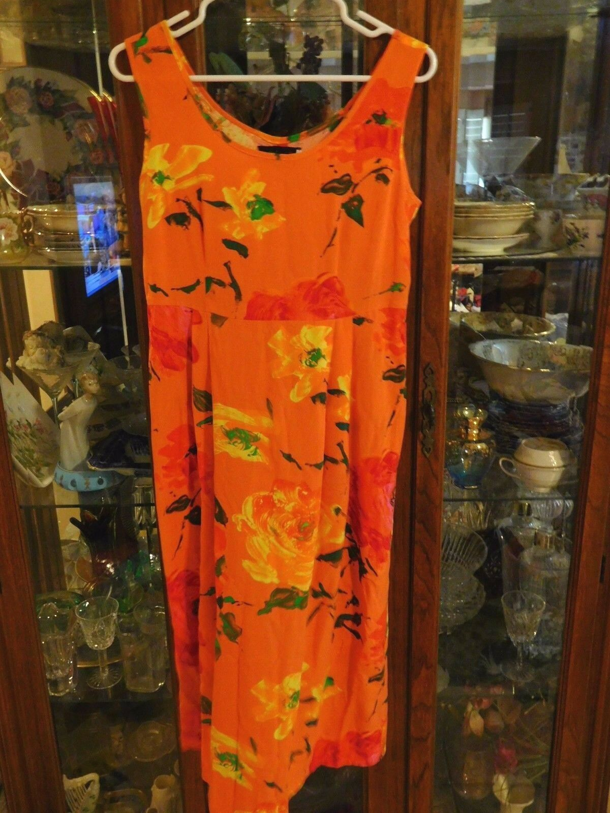 Jams World FAB damen S Sundress NEW NWT Hawaiian Janice RARE Orange Floral Long