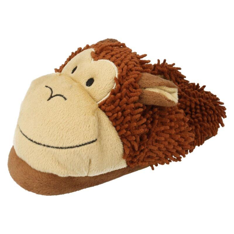 Klug Boys Eaze Rounded Toe Casual Slip On Textile Comfort Home Monkey Slippers X2r072 Billigverkauf 50%